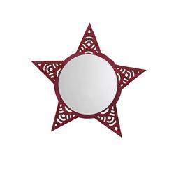 Aasra Decor Star Mirror Decor Wall Mirror, pink