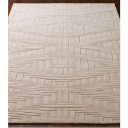 Floor Carpet and Rugs Hand Tufted, AC Concept Abstract White Carpets Online -B2-03-L, white, 3ftx5ft