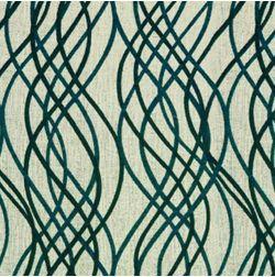 Raindrop Floral Curtain Fabric - 35, green, fabric