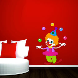Kakshyaachitra The Jiggling Joker Wall Kids Wall Stickers, 48 65 inches