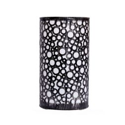 Aasra Decor Black Silver Circles Lamp Lighting Table Lamp, silver