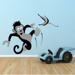Wall Sticker For Kids Chipakk Slipping Monkey AN9BM
