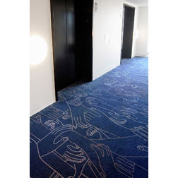Floor Carpet and Rugs Hand Tufted AC Concept Abstract Blue Carpets Online - CRD-55-L, blue, 3ftx5ft