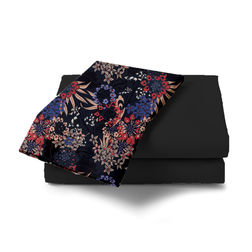 Double Bed Sheet With Two Pillow Covers BS-23, double, black