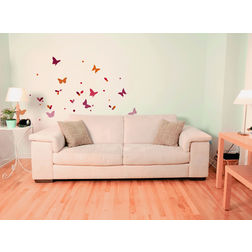 Wall Stickers Home Decor Line Butterflies Silhoutte - 42004