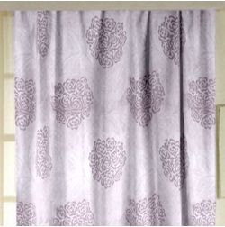 Jewel Floral Readymade Curtain - 12, purple, window