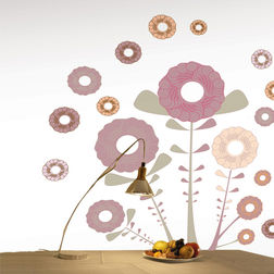 Wall Stickers Home Decor Line Happy Flowers - 57704