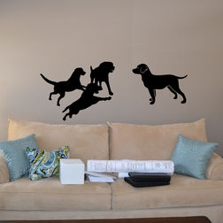 Kakshyaachitra Dog Friends Wall Stickers For Kids Room, 48 20 inches