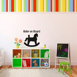 Kakshyaachitra Babies Toy Horse Kids Wall Stickers, 48 48 inches