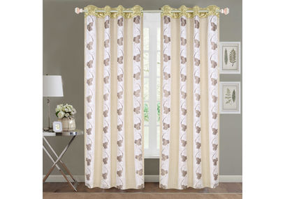 Sheer Curtains Dreamscape, Floral Ivory Sheer Curtains, ivory, door