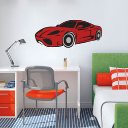 Kakshyaachitra Kitt Racing Car Kids Wall Stickers, 58 24 inches