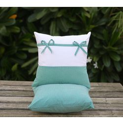 Set of 2 Bow Cushion Cover MYC-25, pack of 2, white