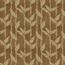 Constellation Floral Curtain Fabric - ZI104, brown, sample