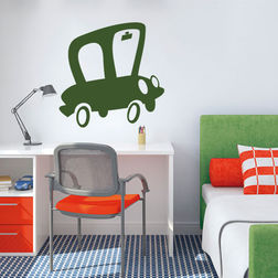 Kakshyaachitra Mr. Magoos Car Kids Wall Stickers, 48 48 inches