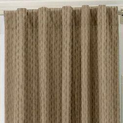Lusture Geometric Readymade Curtain - RHO106, door, brown