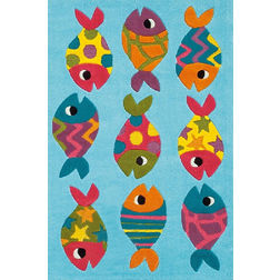 Floor Carpet and Rugs Hand Tufted, AC Concept Kids Multi Carpets Online - KD-68-L, 3ftx5ft, multi