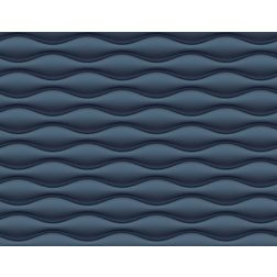 Elementto Wave Design Modern 3D Wallpaper for Walls - td31700, blue
