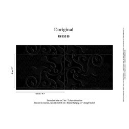 Elementto Wallpapers Ethnic Design Home Wallpaper For Walls, black