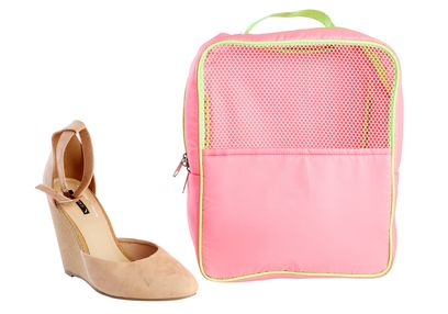 Gym (Travel) Shoe Bag,  pink