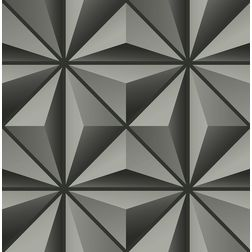 Elementto Geometric Design Modern 3D Wallpaper for Walls - td30900, black
