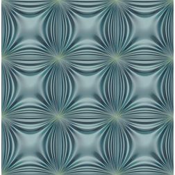 Elementto Floral Design Modern 3D Wallpaper for Walls - td32601, blue