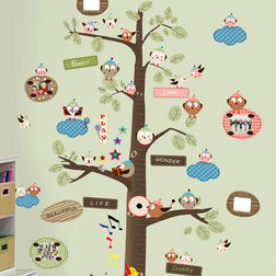 Wall Stickers For Kids Design Cute Neighborhood Tree WD002