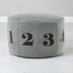 Digits Bean Bag Cover - BB29, grey