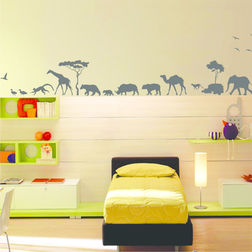 Wall Stickers For Kids Design Animal Parade WDV06005