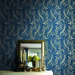 Elementto Wallpapers Floral Design Home Wallpapers For Walls, blue