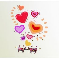 Wall Stickers Feel At Home Coo Ween of hearts - 85225