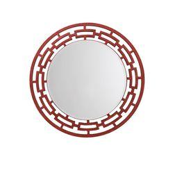 Aasra Decor Weave Mirror Decor Wall Mirror, orange