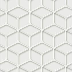 Elementto Geometric Design Modern 3D Wallpaper for Walls - td30800, white