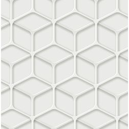 Elementto Geometric Design Modern 3D Wallpaper for Walls - td30800, white