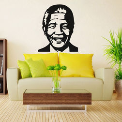 Kakshyaachitra Nelson Mandela Wall Stickers For Bedroom And Living Room, 48 57 inches