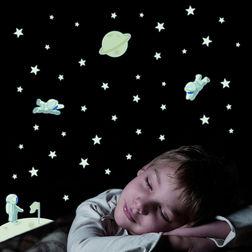 Children Wall Sticker Home Decor Line Astronauts - 79221