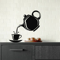 Kakshyaachitra Pouring Tea Wall Stickers For Bedroom And Living Room, 48 48 inches