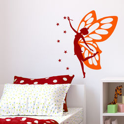 Wall Stickers For Kids Chipakk Butterfly Fairy Maroon FA2AM