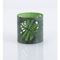 Aasra Decor Wild Leaf Candle Votive DecorVotives, green
