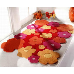 Floor Carpet and Rugs Hand Tufted, AC Concept Kids Orange Carpets Online - KD-70-L, 3ftx5ft, orange