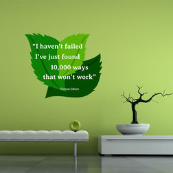 Kakshyaachitra I Haven't Failed Quote Wall Stickers For Bedroom And Living Room, 24 20 inches