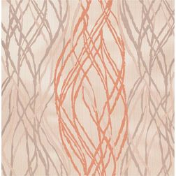 Zoya Geometric Readymade Curtain - WI709, window, orange