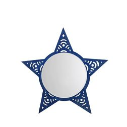 Aasra Decor Star Mirror Decor Wall Mirror, blue