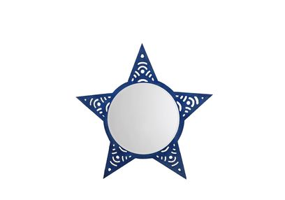 Aasra Decor Star Mirror Decor Wall Mirror, blue