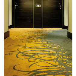 Floor Carpet and Rugs Hand Tufted AC Concept Floral Yellow Carpets Online - CRD-01-L, 3ftx5ft, yellow
