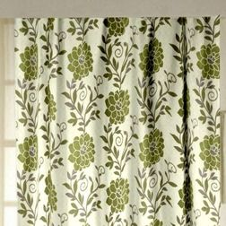 Romania Floral Readymade Curtain - 14, door, green