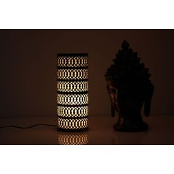 Aasra Decor Elegant Design Black and Golden Pillar Table Lamp Lighting Table Lamp, multicolor