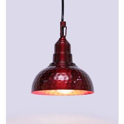 Aasra Decor Red Semisphere Pendant Lamp Lighting Ceiling, red