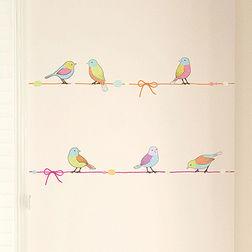 Wall Stickers TC Birds on String