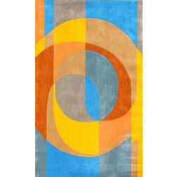 Floor Carpet and Rugs Hand Tufted, The Rug Concept Multi Carpets Online Tbilisi 6037-M, 3ft x 5ft, multi