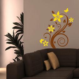 Wall Stickers Chipakk Flowering Branch4 Yellow